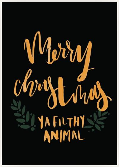 Merry Christmas ya filthy animal Choosey video card