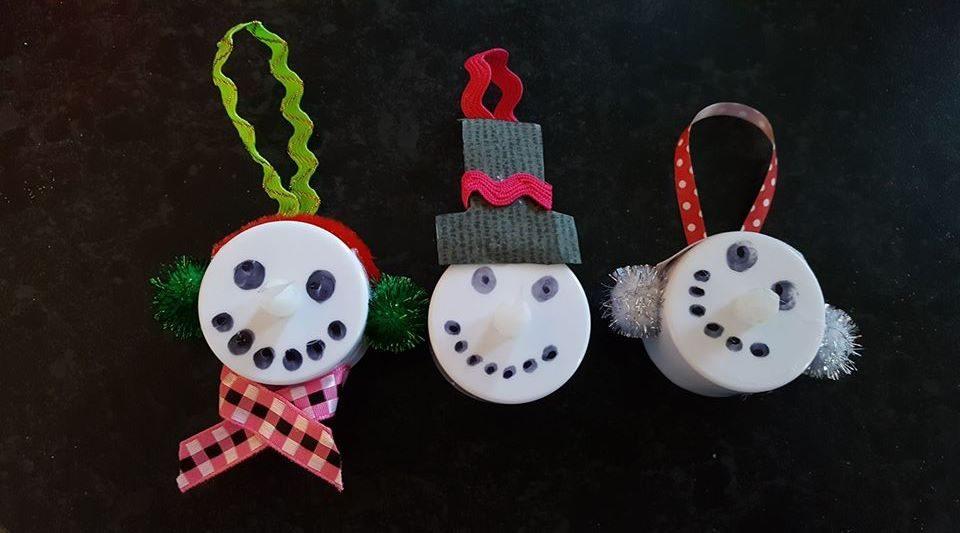 Tea Light Snowman Ornament