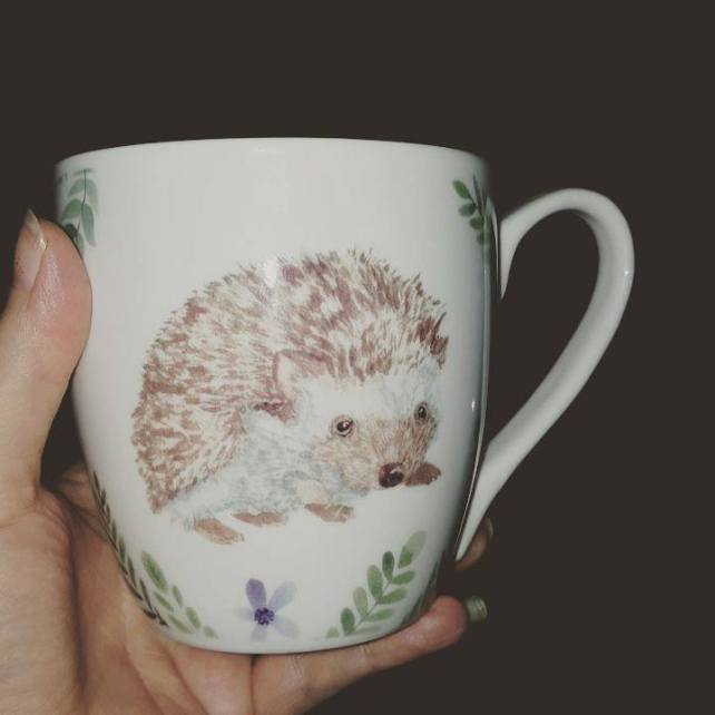 My new hedgehog mug
