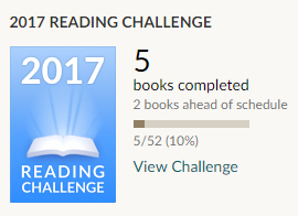 Goodreads challenge 5 books read