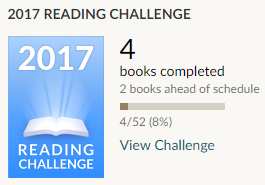Goodreads challenge 2017 4 books read