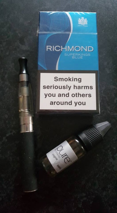 Vaping kit and cigarettes