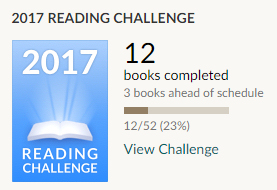 Goodreads reading challenge 12 books read