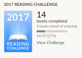 Goodreads reading challenge 14 books completed