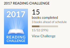 Goodreads reading challenge 2017 15 books completed