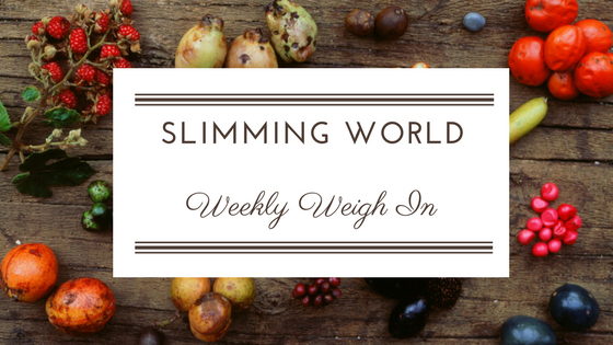 weekly weigh in Slimming World January 27th