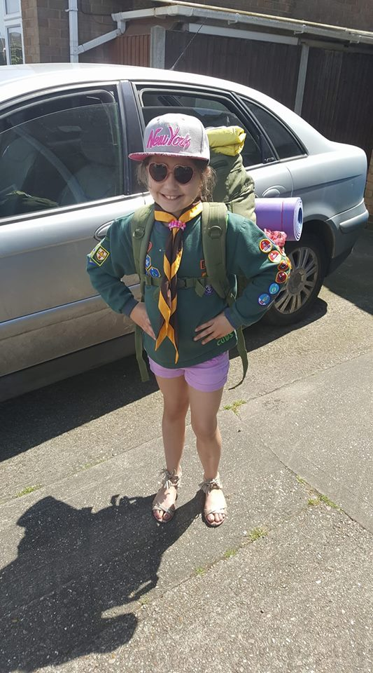 Ella Cub Camp Weekend
