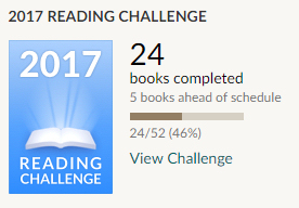 Goodreads challenge - 24 books read