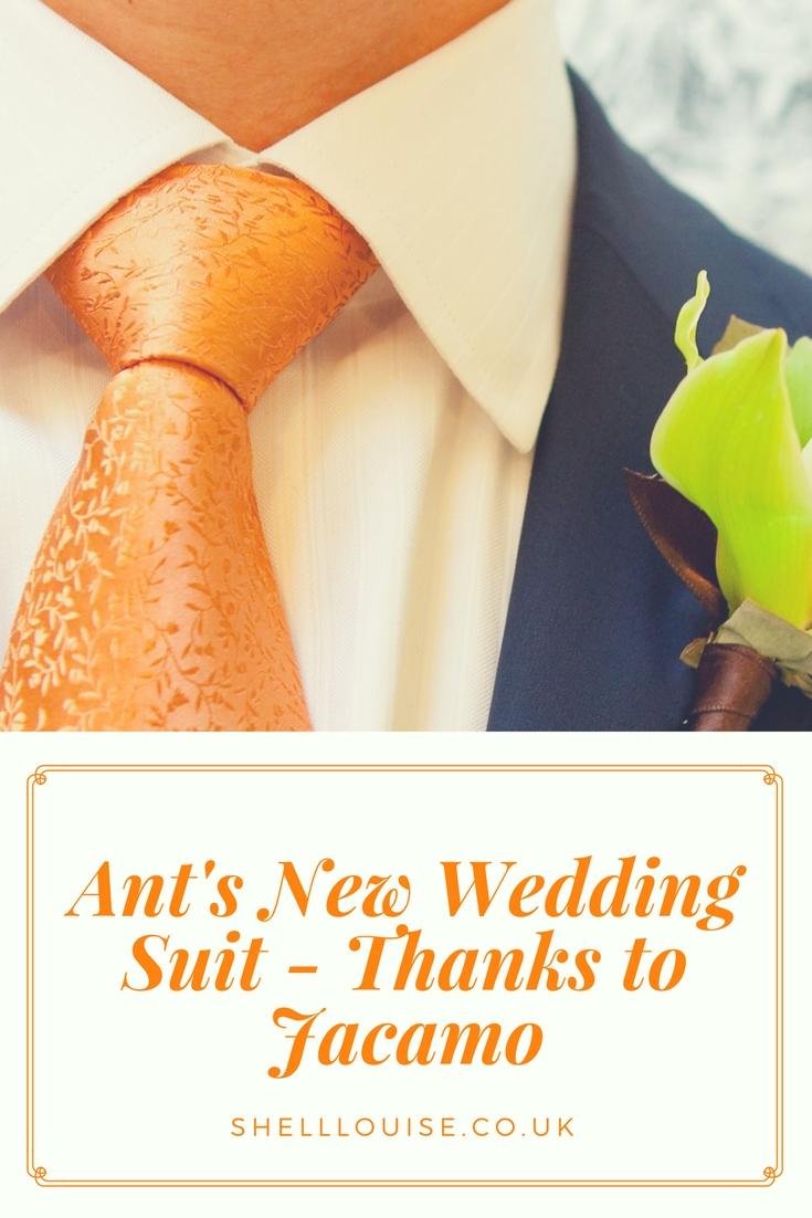 Ant's new wedding suit from Jacamo