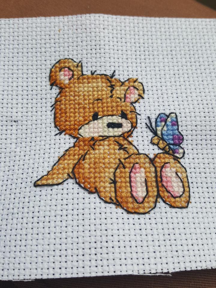 cross stitch teddy bear