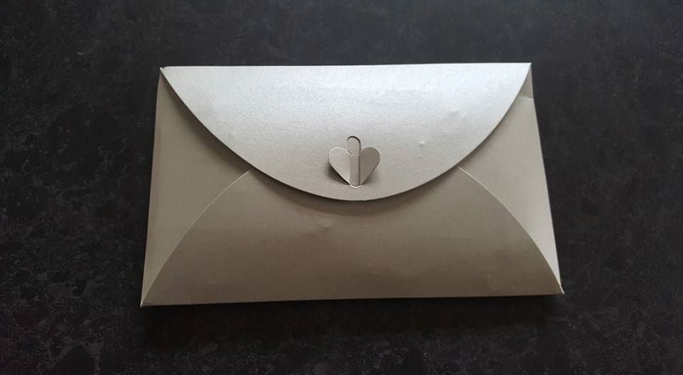 weight loss plaque in silver envelope