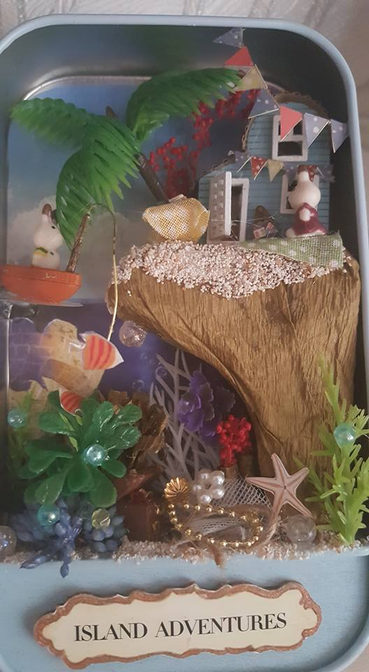 Island Adventure Box Theatre Miniature craft kit