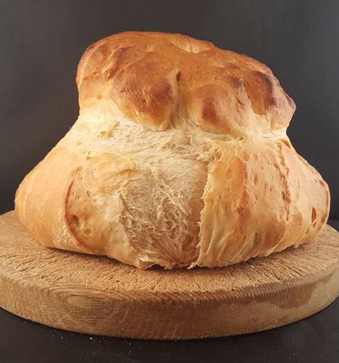 Cottage Loaf on a bread board