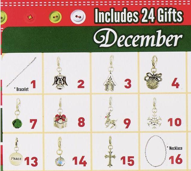 charm bracelet advent calendars