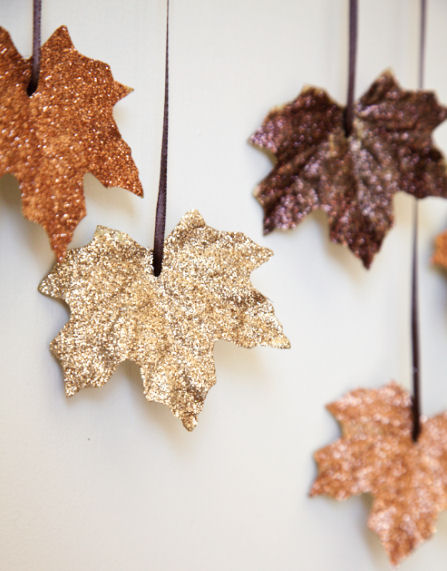 glittery Autumn leaves