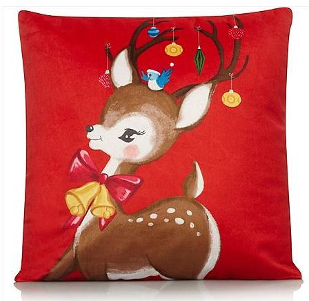 reindeer cushion vintage Christmas