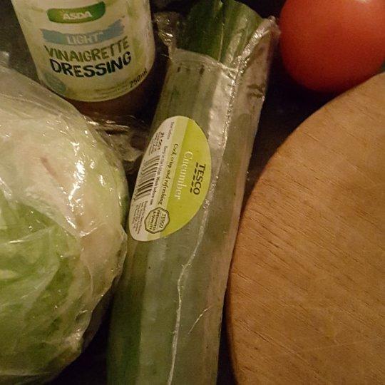 1 day 12 pics November #10 making salad for dinner