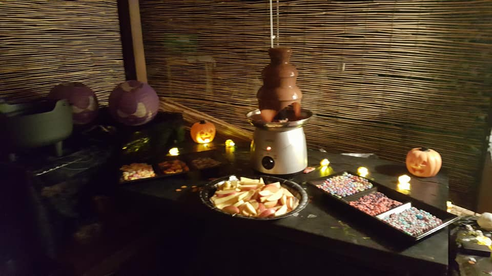 Halloween 2017 chocolate fountain