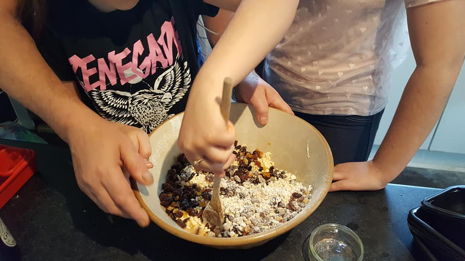 Stir up Sunday making the Christmas pudding