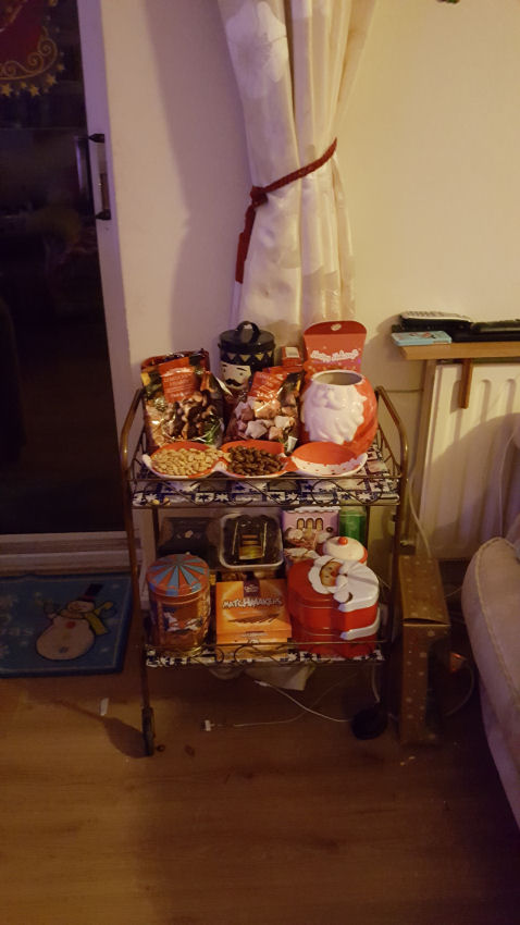 Christmas trolley of goodies
