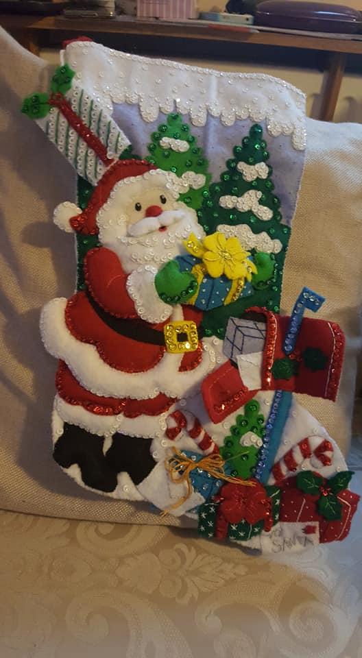 Santa stocking Aiden