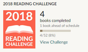 Goodreads challenge 4 books read