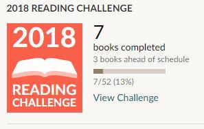 Goodreads reading challenge 2018 7 books read