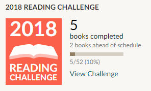 Goodreads reading challenge 2018 5 books read
