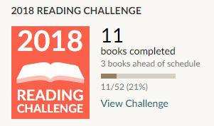 Goodreads reading challenge 2018 11 books read