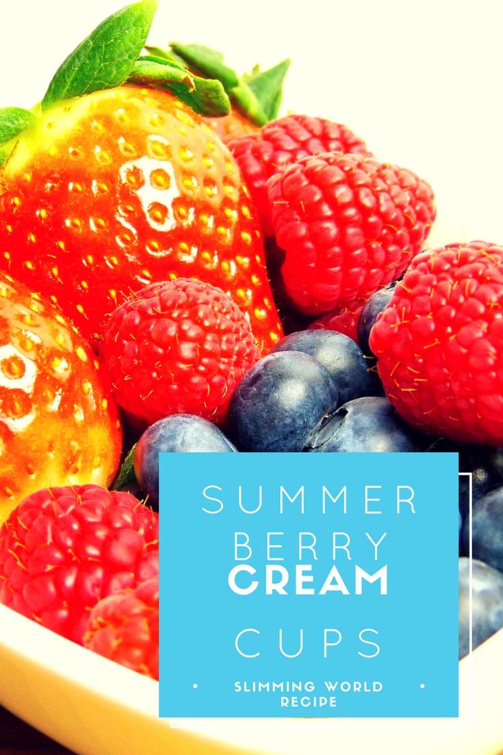 summer berry cream cups