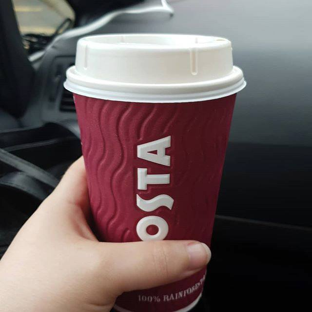 Costa Coffee - I'm now officially on holiday for our anniversay week