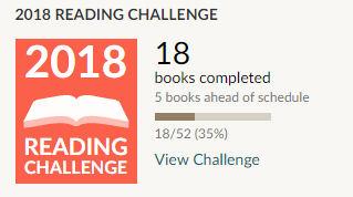 Goodreads 2018 reading challenge 18 books read