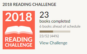 Goodreads 2018 reading challenge 23 books read