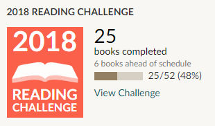 Goodreads 2018 reading challenge 25 books read