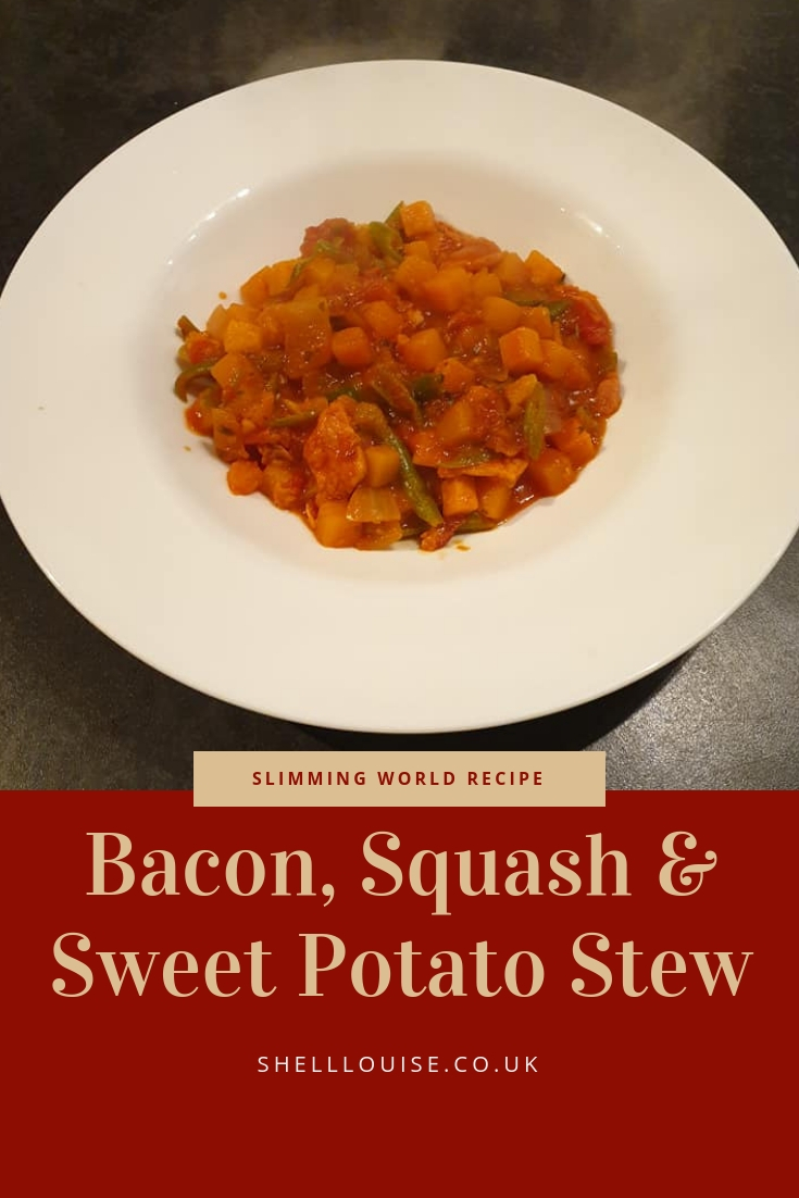 bacon, squash and sweet potato stew