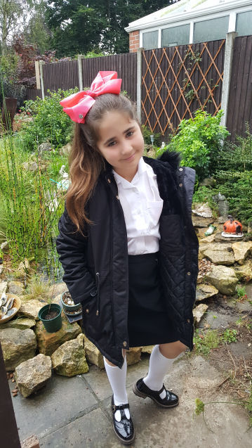 Ella's first day back to school photos - 2017