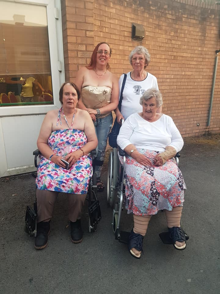 Jayne and her mum at the back, my mum and Nan-Nan at the front - family get together