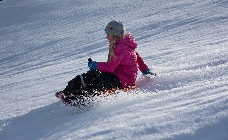 child sledging