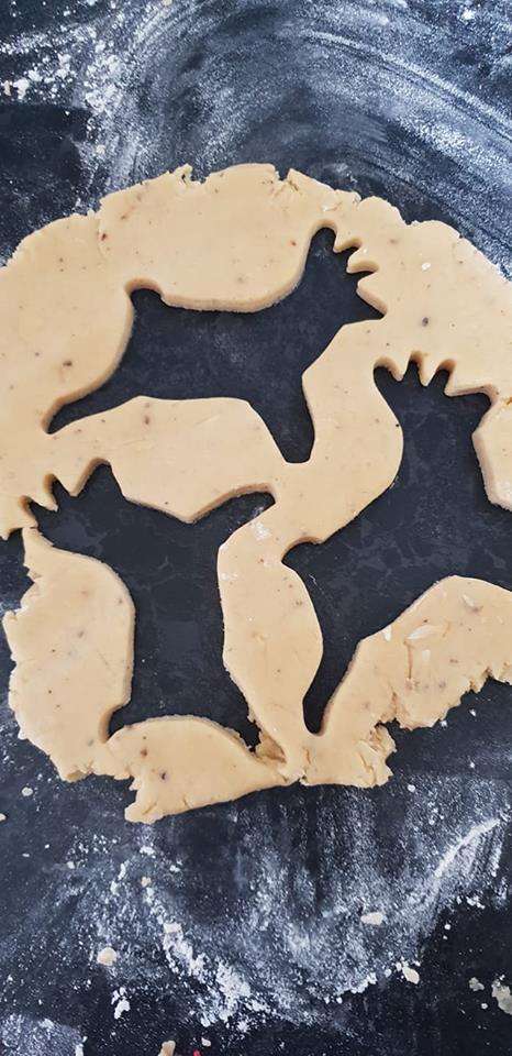 Christmas Cookies in September - cookie dough