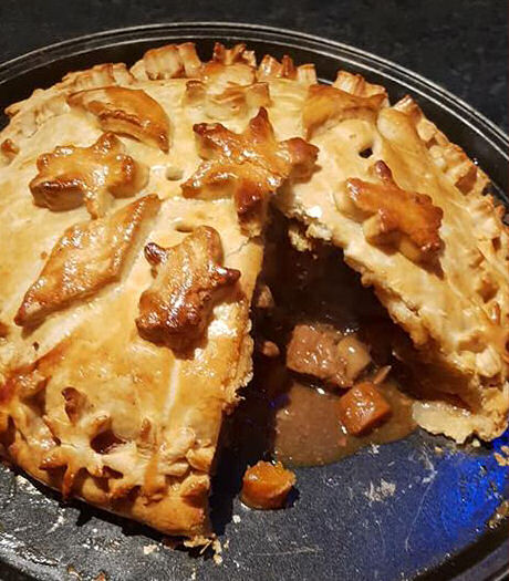 steak and Guinness pie for Great British Bake Off bloggers bake along