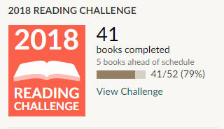 Goodreads 2018 reading challenge 41 books read