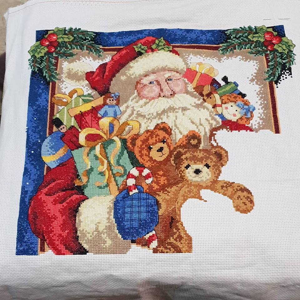 Santa cross stitch