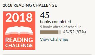 Goodreads 2018 reading challenge 45 books read
