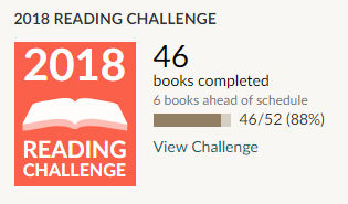 Goodreads 2018 reading challenge 46 books read