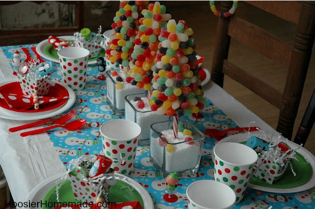 North Pole Breakfast Ideas - Gumdrop Christmas trees by Hoosier Homemade