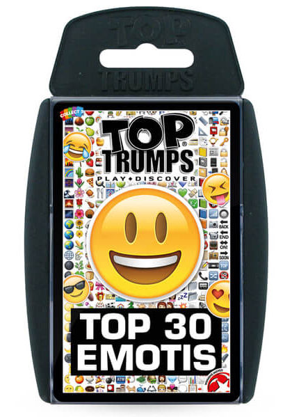 Stocking Fillers - Classic Top Trumps Top 30 Emotis from I Want One Of Those IWOOT