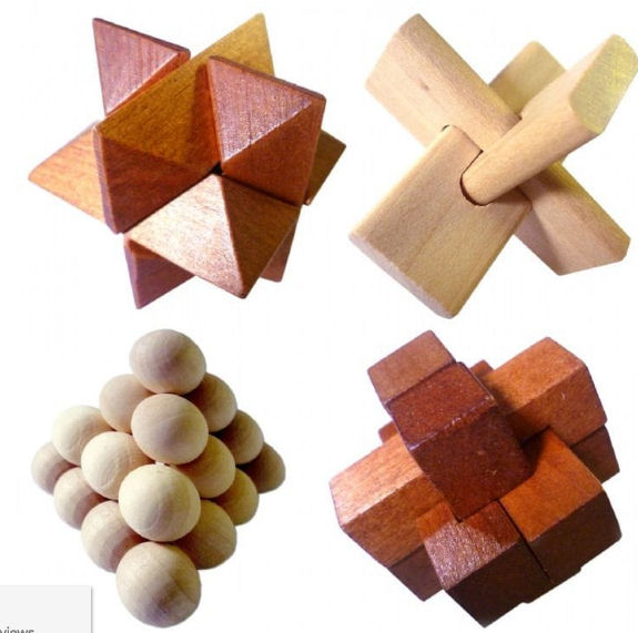 Wooden Puzzle Brain Teaser from Find Me A Gift