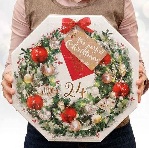 Yankee Candle Wreath shaped advent calendar