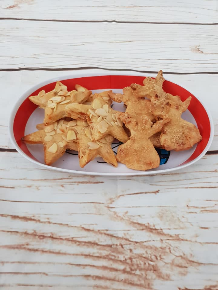 apple angels pear stars cookies