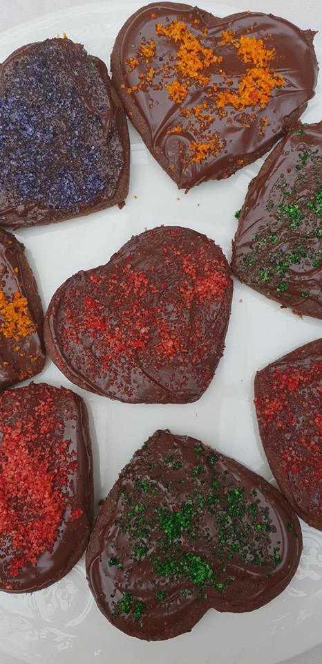Christmas cookies chocolate hearts